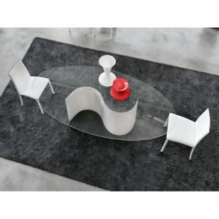 Обеденный стол Infini75 из стекла