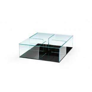 журнальный стол Angle из гнутого стекла