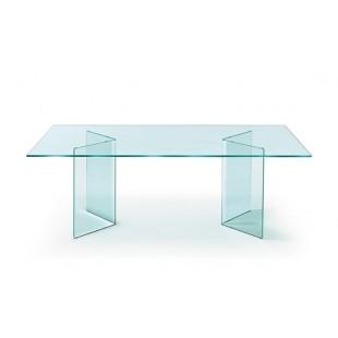 Стеклянный стол Larum из гнутого стекла