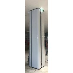Гнутое стекло для облицовки колонн