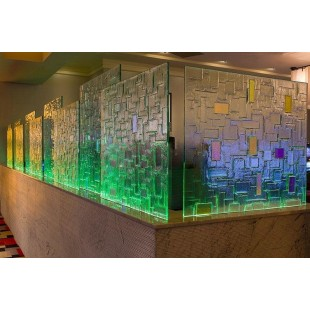 Декоративные стеклянные панели по технологии фьюзинг