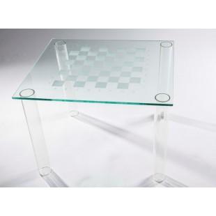 Шахматный стол Ludus T из стекла