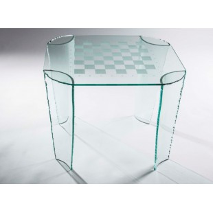 Шахматный стол Ludus из стекла