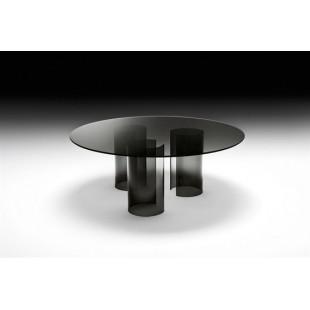 Обеденный стол Pipe75 из  стекла