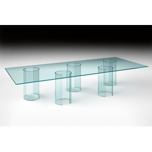Обеденный стол Pipe из стекла