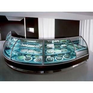 Гнутые стекла для холодильных витрин