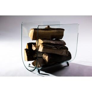 Дровница для камина Stips из гнутого стекла