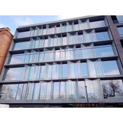 Гнутое стекло для фасада
