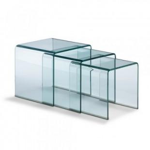 Журнальный столик Trio из стекла