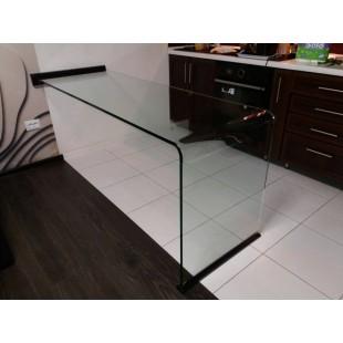 Стеклянный стол из гнутого стекла Ustus 2/3